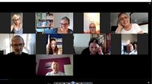 screenshot of people at a zoom meeting